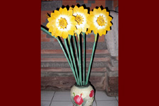 Wooden Flowers: Sunflower