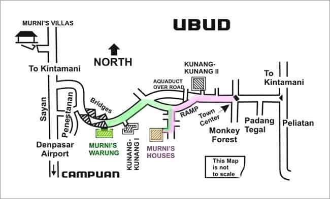 Map of Ubud