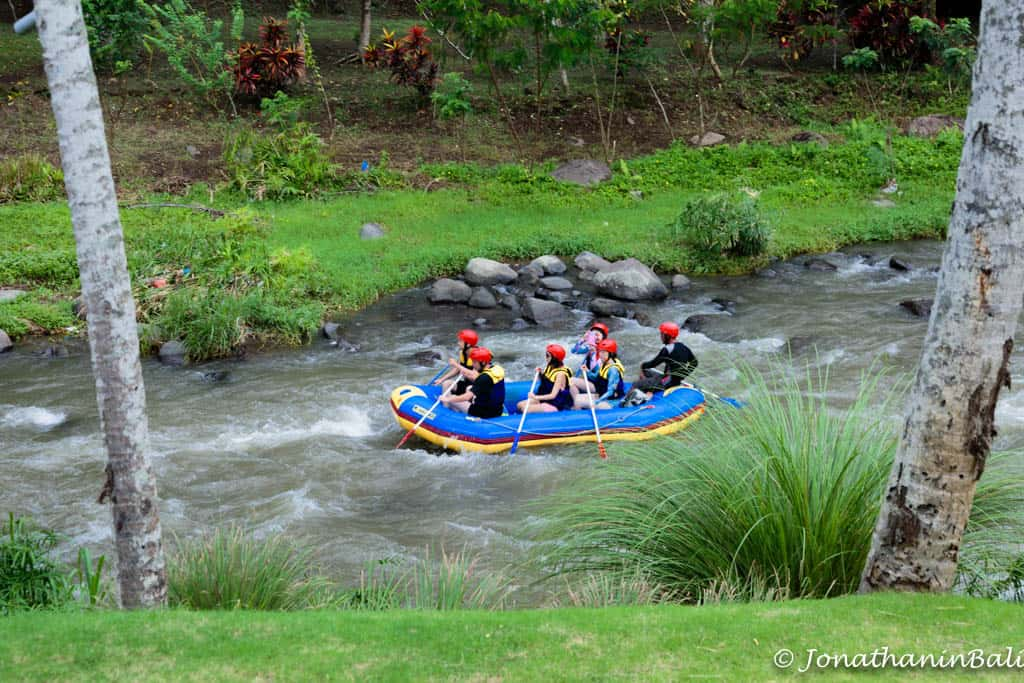 white water rafting activity from Murni's Houses Ubud Bali
