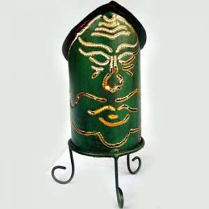 Green Face Candleholder