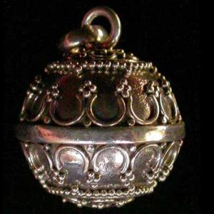 Granulated Sterling Silver Harmony Ball Pendant