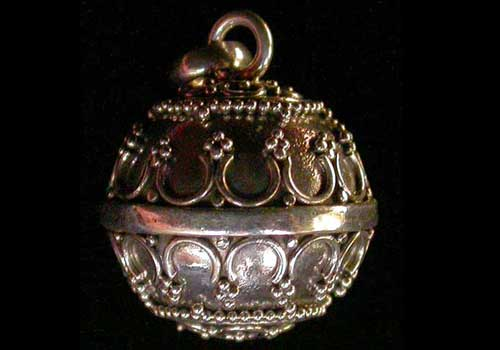 Granulated sterling silver harmony ball pendant murnis in bali granulated sterling silver harmony ball pendant aloadofball Images