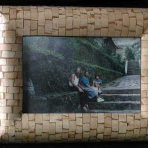 Coconut Shell Photo and Picture Frame