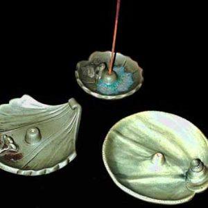 Green Ceramic Incense Holders
